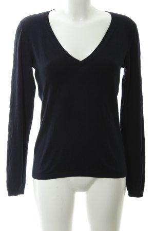More & More V-Ausschnitt-Pullover dunkelblau Casual-Look