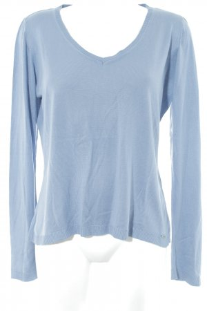More & More V-Ausschnitt-Pullover himmelblau Casual-Look