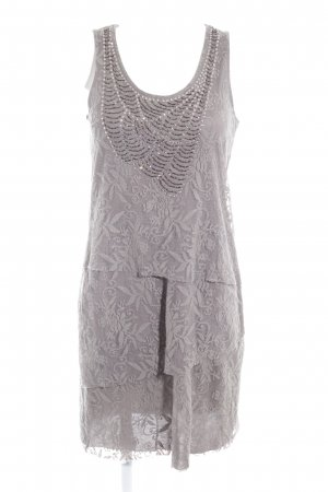 More & More Flounce Dress grey lace look