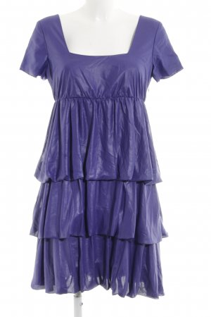 More & More Flounce Dress lilac wet-look