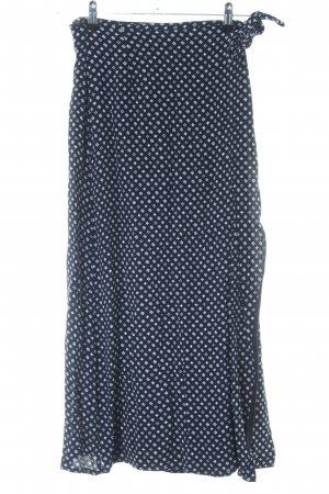 More & More Wraparound Skirt black-white allover print casual look