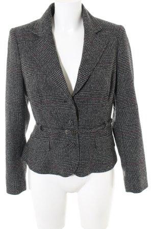 More & More Wool Blazer light grey-black check pattern business style