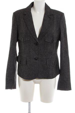 More & More Woll-Blazer schwarz meliert Business-Look