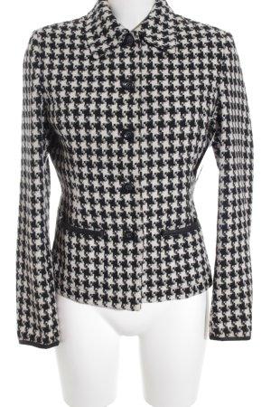 More & More Woll-Blazer weiß-schwarz Hahnentrittmuster klassischer Stil