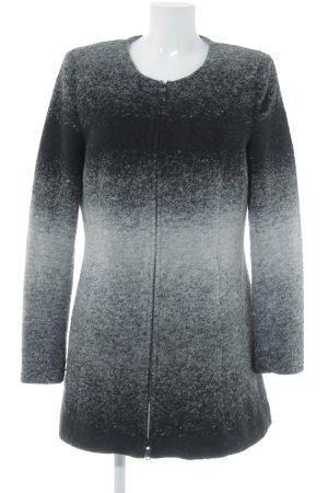 More & More Veste en laine noir-gris clair style simple