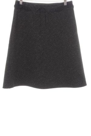 More & More Gonna di lana antracite puntinato stile classico
