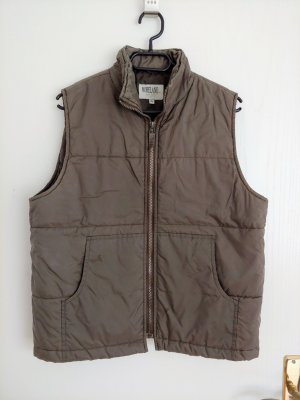 Moreland Quilted Gilet grey brown-ocher