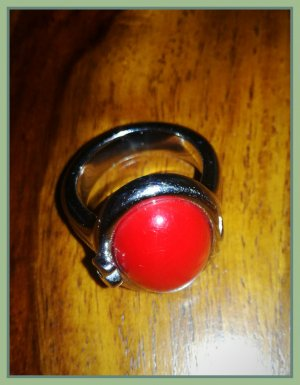 Morellato Ring, silber mit rotem Stein