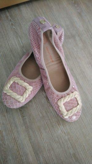 Morena Morena Ballerina Slipper Gr.39 rosa Gold top