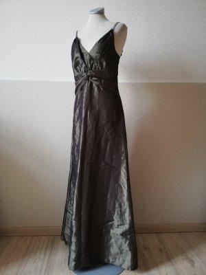 Morgan Abendkleid grün khaki metallic Gr. S 36 Kleid lang