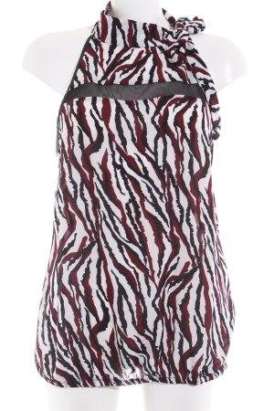 Morgan ärmellose Bluse abstraktes Muster extravaganter Stil