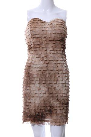Morgan Vestido bandeau marrón-crema degradado de color estilo clásico