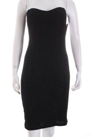 Morgan Vestido bandeau negro estilo fiesta