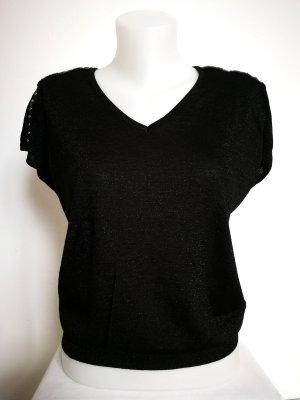 Morgan Haut tricotés noir-argenté