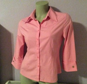Morgan de toi Stretch Bluse rosa 3/4 Arm mit Manschette