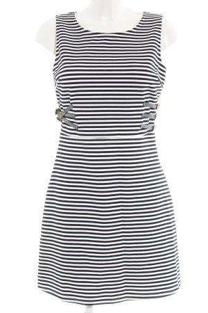 Morgan Etuikleid weiß-schwarz Streifenmuster Casual-Look