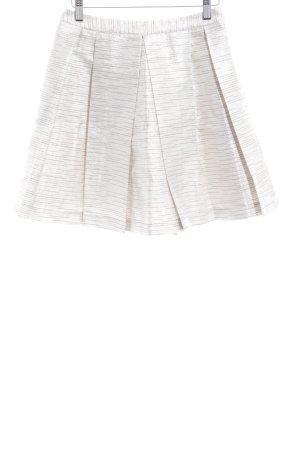 Morgan Plaid Skirt cream-silver-colored glittery