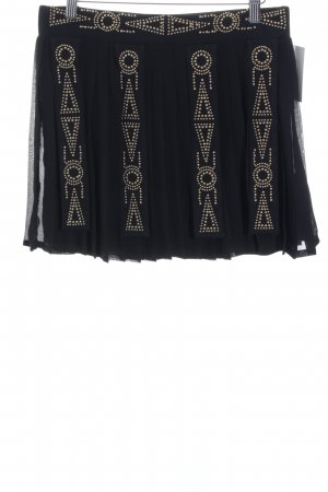 Morgan Jupe à plis noir style festif