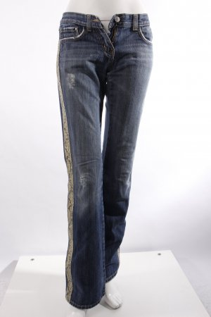 Morgan Jeans mit Details in Schlangen-Optik