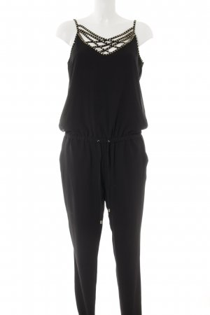 Morgan Jumpsuit black-gold-colored casual look