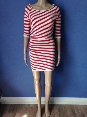 Morgan Kleid Streifen Rot Weiß Chic