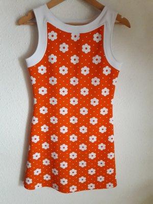 Morgan. Kleid. weiß/ orange.