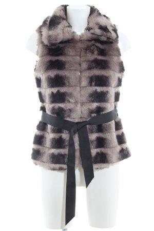 Morgan Kunstfellweste grau-schwarz meliert Elegant