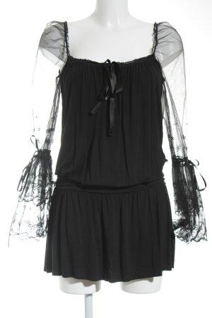 Morgan Midikleid schwarz extravaganter Stil