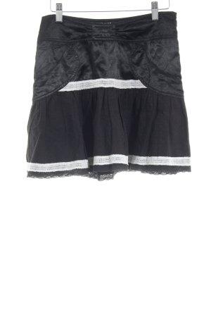 Morgan Minirock schwarz-wollweiß Casual-Look