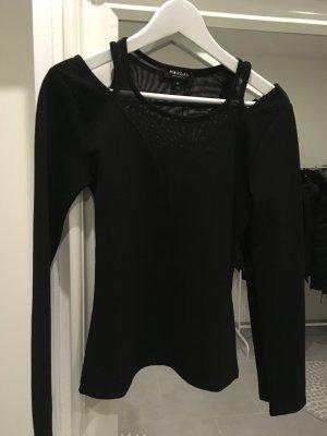 Morgan Oberteil Pullover Bluse spitze neu schwarz xs s 34 36 Blogger Fashion