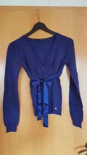 Morgan Pullover dunkel blau mit Schleife gr 34