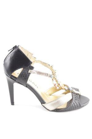 Morgan Riemchenpumps schwarz-goldfarben Elegant