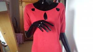 Morgan Knitted Dress red viscose