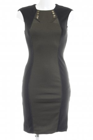 Morgan Tube Dress black-olive green check pattern casual look