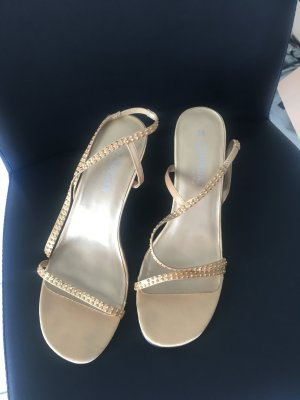 Morgan High-Heeled Sandals gold-colored