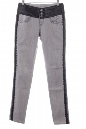 Morgan Stretch Jeans light grey-black casual look