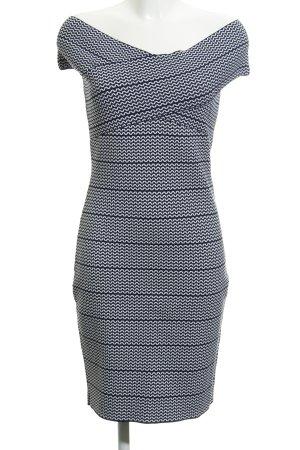 Morgan Strickkleid dunkelblau-weiß grafisches Muster Marine-Look