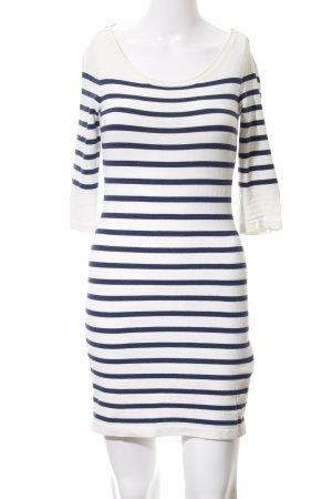 Morgan Strickkleid weiß-blau Streifenmuster klassischer Stil