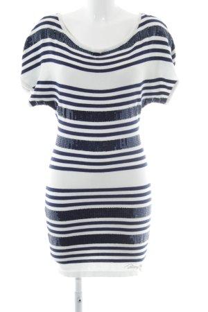 Morgan Strickkleid weiß-dunkelblau Streifenmuster Casual-Look