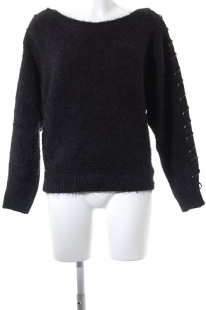 Morgan Strickpullover schwarz Party-Look