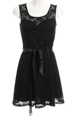 Morgan Vestido de tela de sudadera negro elegante