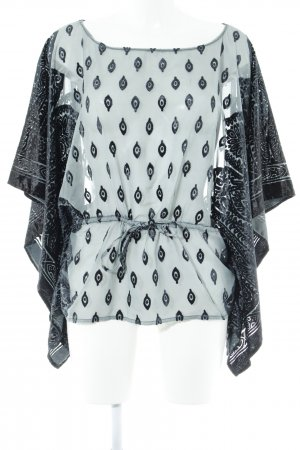Morgan Tunikabluse graublau-blassblau abstraktes Muster extravaganter Stil