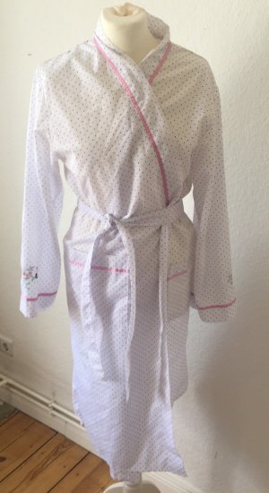Dressing Gown white-pink cotton