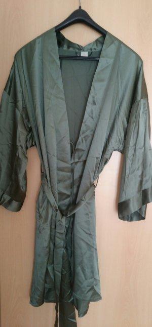Palmers Dressing Gown khaki silk