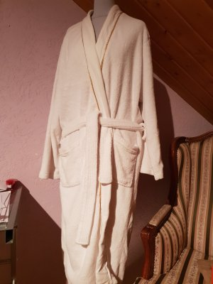 Cappotto in pile bianco-oro