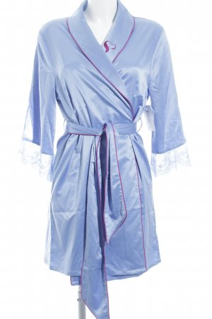 Dressing Gown azure-magenta lingerie style
