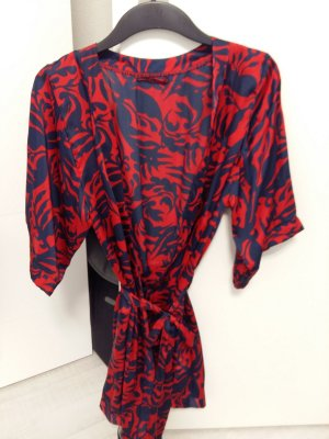 H&M Dressing Gown dark red-dark blue