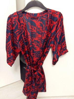 H&M Dressing Gown dark red-dark blue