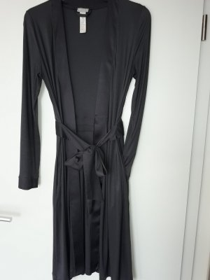 Hanro of Switzerland Dressing Gown anthracite modal fibre