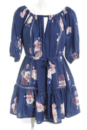 Morning Mist Babydoll Dress flower pattern romantic style